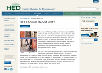 HED Annual Report 2012