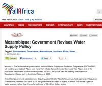 Mozambique: Government Revises Water Supply Policy
