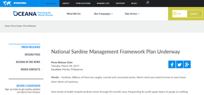 National Sardine Management Framework Plan Underway