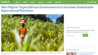 New Report Urges African Governments to Increase Sustainable Agricultural Practices