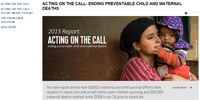 News - Acting on the Call: Ending Preventable Child and Maternal Deaths