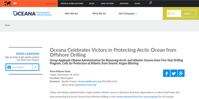 Oceana Celebrates Victory in Protecting Arctic Ocean from Offshore Drilling