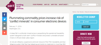 Plummeting commodity prices increase risk of 'conflict minerals' in consumer electronic devices