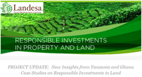 Project Update:  New Insights from Tanzania and Ghana Case Studies on Responsible Investments in Land
