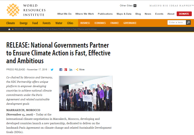 RELEASE: National Governments Partner to Ensure Climate Action is Fast, Effective and Ambitious