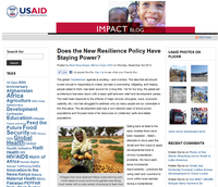 USAID Impact Blog: Does the New Resilience Policy Have Staying Power?