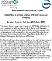 Responding to Climate Change and Reef Resilience Workshop
