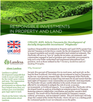 RIPL: A How-To for Responsible Investment in Tanzania