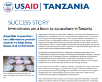 Success Story - Invertebrates are a Boon to Aquaculture in Tanzania
