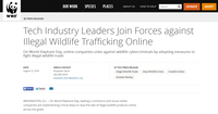 Tech Industry Leaders Join Forces against Illegal Wildlife Trafficking Online