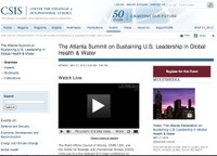 The Atlanta Summit on Sustaining U.S. Leadership in Global Health & Water