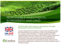 Update: RIPL Selects Ghana for Development of Socially Responsible Investment Playbooks