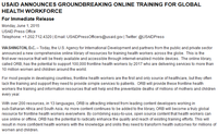USAID Announces Groundbreaking Online Training for Global Health Workforce