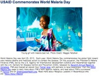 USAID Commemorates World Malaria Day
