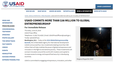 USAID Commits More Than $38 Million to Global Entrepreneurship