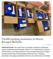 USAID Lending Assistance to Storm-Ravaged Barbuda
