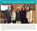 USAID 'LIFE' Project Discusses Gender Equality