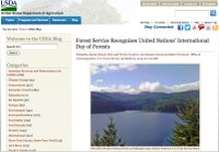 USDA Blog: Forest Service Recognizes United Nations' International Day of Forests