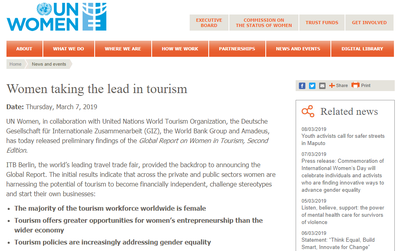 Women Taking the Lead in Tourism